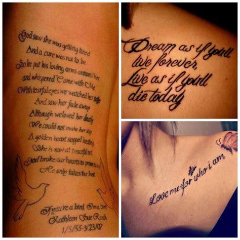 tatouage phrase anglais famille mod 232 les et exemples