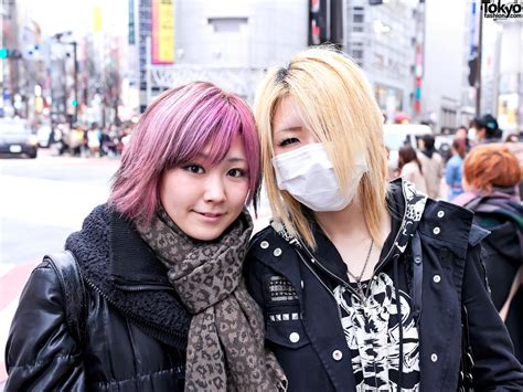 Platform Buckle Boots Ripped Leggings And Pink Hair In Shibuya