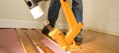 Laying solid wood flooring using the nail down method