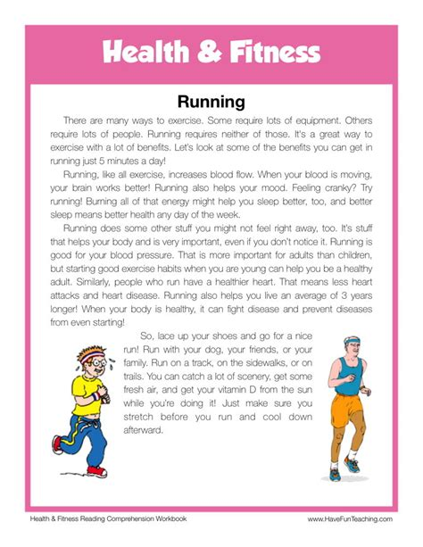 reading comprehension worksheet running