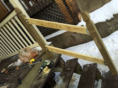 build  handrail   porch safer stairs