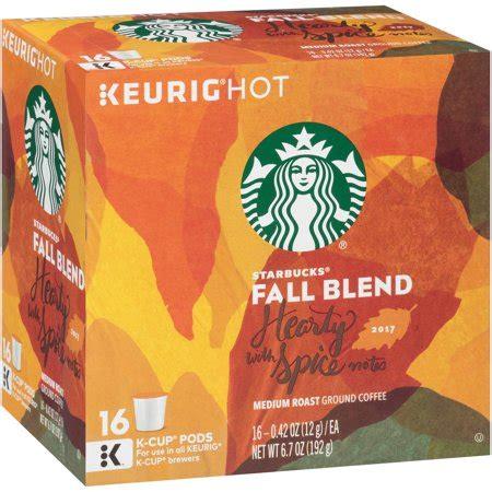 Starbucks espresso coffee pods, bold. Starbucks® Fall Blend Medium Roast Ground Coffee K-Cup ...