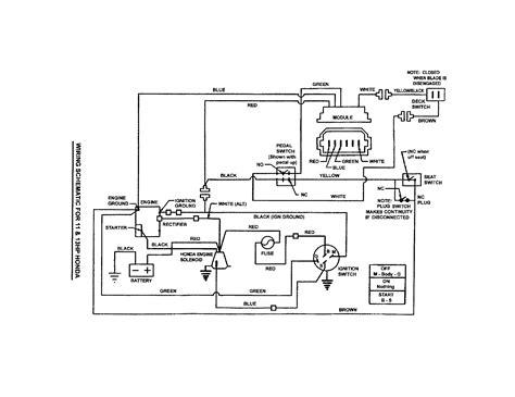 craftsman lawn mower ignition switch schematics