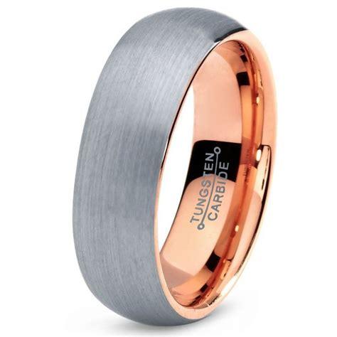 tungsten wedding band ring 7mm for men women comfort fit