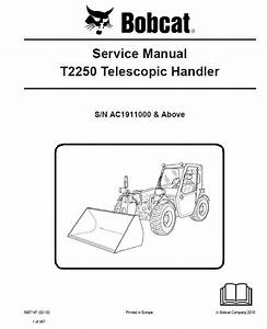 Bobcat T2250 Telescopic Handler Service Manual Pdf