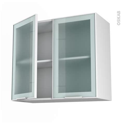 meuble de cuisine haut ouvrant vitr 233 fa 231 ade blanche alu 2