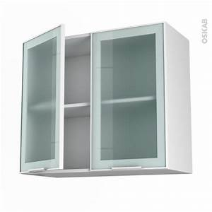 Facade Meuble De Cuisine : meuble de cuisine haut ouvrant vitr fa ade blanche alu 2 ~ Edinachiropracticcenter.com Idées de Décoration