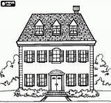 Coloring Para Manor Colorear Dormer Attic Dibujos Facade Houses Bjl Floors Window Casas Edificios Casa Una Windows Adult Visitar sketch template