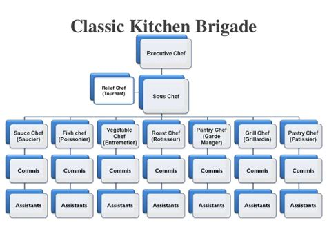 Kitchen Hierarchy In by Chef S Kitchen Layout Format