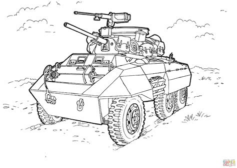 M8 Greyhound Light Armored Car Super Coloring Coloring