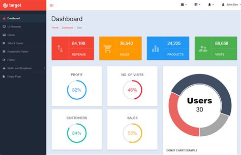 Bootstrap Admin Templates Free Responsive Bootstrap Admin Template Webthemez