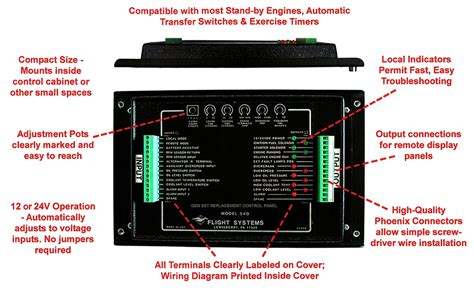 nfpa compliant genset replacement control panel