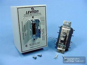 Leviton Manual Motor Starter Switch Dpst Double Pole