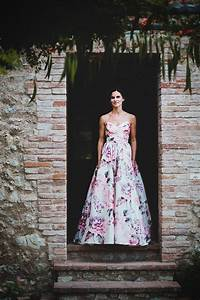 7 most beautiful floral wedding dresses ever vowslovecom With floral print dresses for weddings