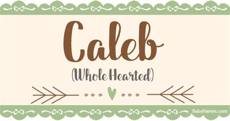 caleb meaning   caleb  babynamescom