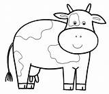Cow Coloring Pages Dairy Doll Netart sketch template