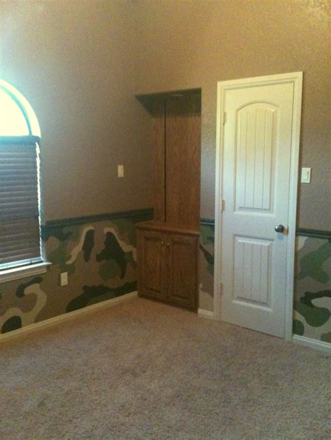 boys wanted me to paint their room in camo so happy