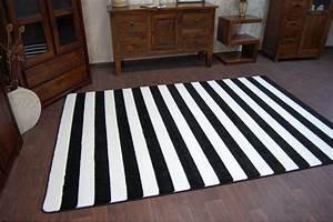 Teppich Schwarz Weiß Gestreift : 6 gr en modern weich teppich sketch f758 wei schwarz breit gestreift streifen ebay ~ Indierocktalk.com Haus und Dekorationen