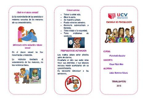 tripticos acerca de educacion inicial triptico de educaci 243 n sexual para ni 241 os