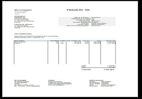 bail location bureau modèle de facture gratuit à télécharger