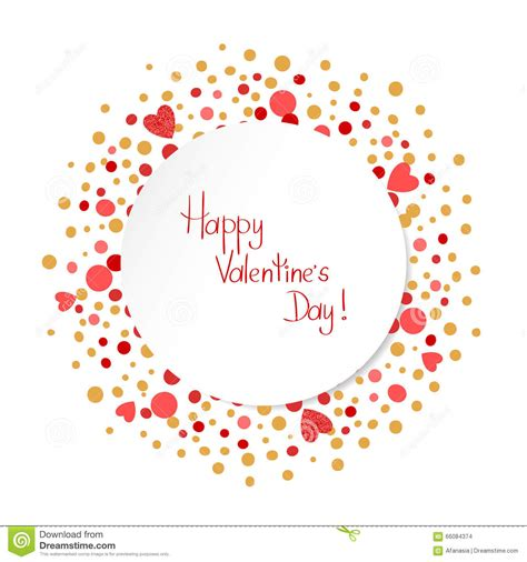 Happy Valentines Day Card Template. Romantic Background ...