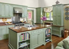 Green Kitchen Cabinets Painted by Kitchen Cabinets The 9 Most Popular Colors To From