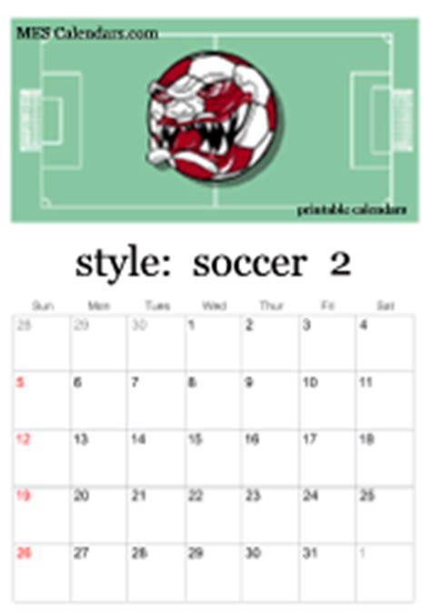 printable soccer calendars personalized soccer calendars