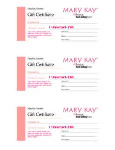 Mary Kay Gift Certificate Template Free