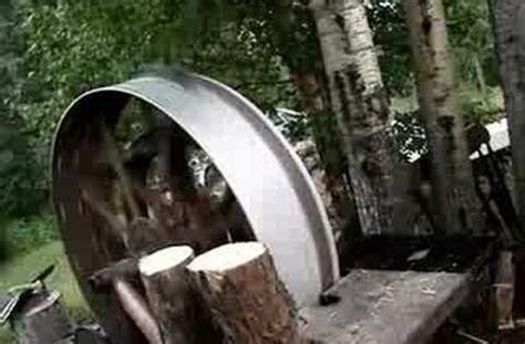 redneck log splitter youtube love   log
