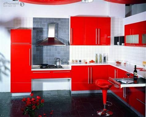 fotos de cocinas rojas  ideas de combinaciones