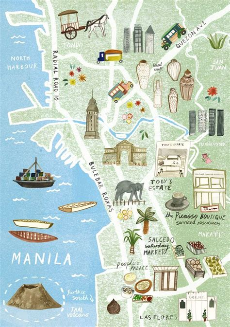 illustrated map  manila  virgin australia livi
