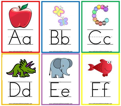 13 Sets Of Free, Printable Alphabet Flash Cards