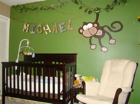decoration chambre bebe theme jungle monkey themed nurseries webby