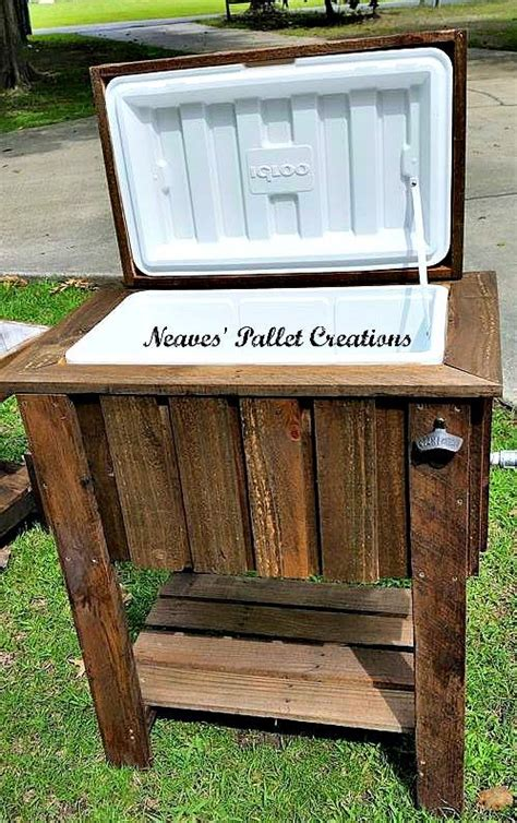 pallet wood cooler pallet ideas