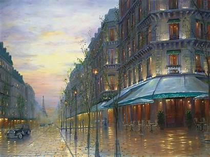Paris Cafe Eiffel Tower Street Night France