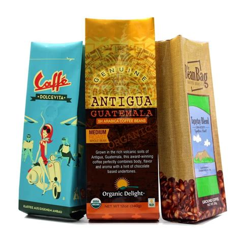 So which coffee bag should you use? Custom printed aluminum foil flat bottom empty coffee bag with valve