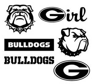 Georgia Bulldog SVG Files Silhouette