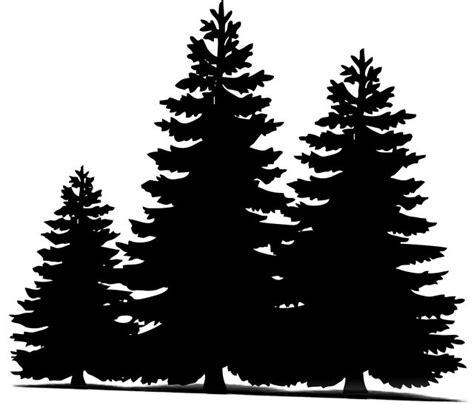 image  pixabay pine trees christmas sillueta