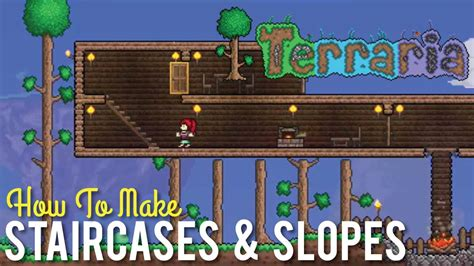 How To Make Staircases And Slopes In Terraria Youtube