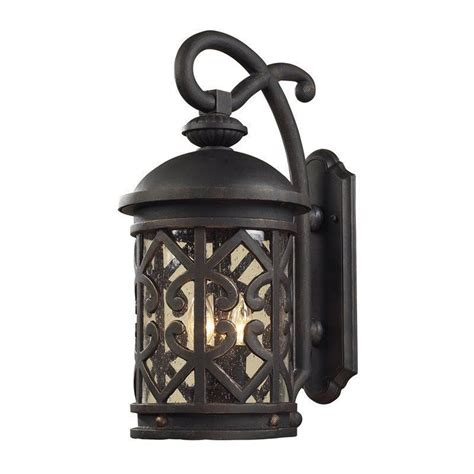 new tuscan indoor outdoor wall sconce weathered