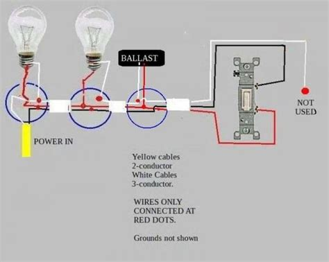 troubleshooting problem wiring power  fluorescent