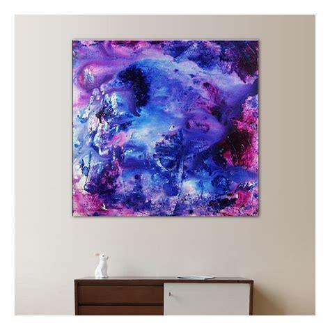 toile mauve  bleue