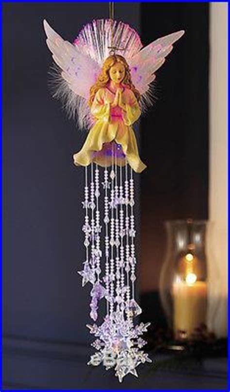 fiber optic hanging angel dangler decor outdoor christmas