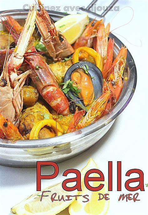 cuisine poivron paella au poulet et fruits de mer facile recettes faciles recettes rapides de djouza
