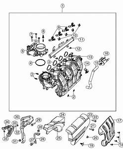 2014 Jeep Cherokee Throttle Body  Export  Engine  Multiair