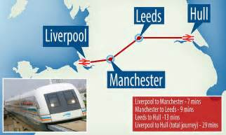 Hover train will go Liverpool to Manchester in 7 MINUTES ...
