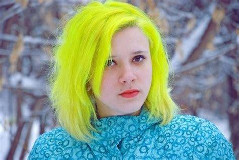 Bright Neon Highlighter Yellow Hair