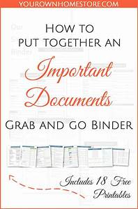 how to create a complete emergency important documents With important documents binder printables