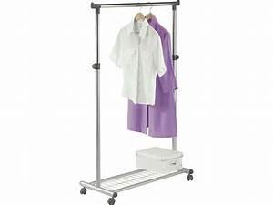 Valet Porte Vetement : portant bill coloris gris vente de portant et valet ~ Teatrodelosmanantiales.com Idées de Décoration
