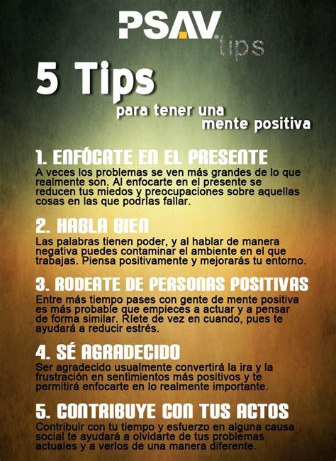 tips  tener una mente positiva psav tips